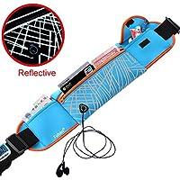freemaster Sport Marsupio Denaro Pouch cintura da corsa impermeabile Marsupio lombare confezioni con strisce riflettenti (Neon Viaggi Cintura)