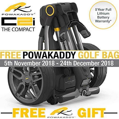 PowaKaddy C2i - Chariot de golf compact avec batterie au...