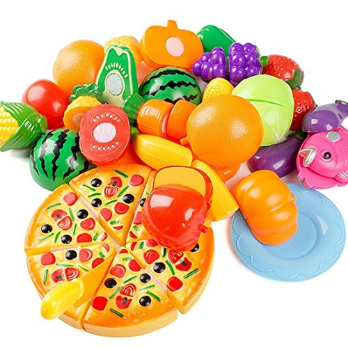 Finer-Shop-24pcs-Plastikfrucht-Gemse-Kche-Cutting-Toy-Pretend-Play-Kinder-Rollenspiele-Kchenspielzeug