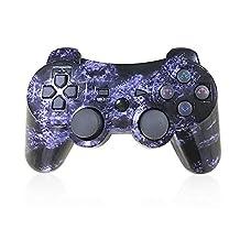 PS3 draadloze controller met DoubleShock en SIXAXIS functie voor Playstation 3. violet HQX-PS3