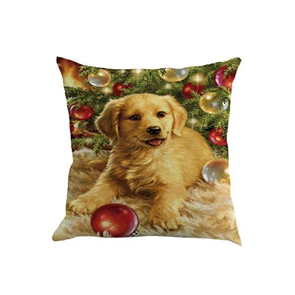 IJKLMNOP Christmas Pillow Square Pillow Case Lino Mat 45x45cm es Adecuado para oficinas, Casas, automóviles, cafeterías… 13