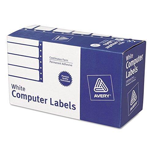 Avery durchgehende Form Computer Etiketten für pin-fed Drucker 10,2cm X 1-15/40,6cm Box von 5.000(4022) - Computer-adresse Labels