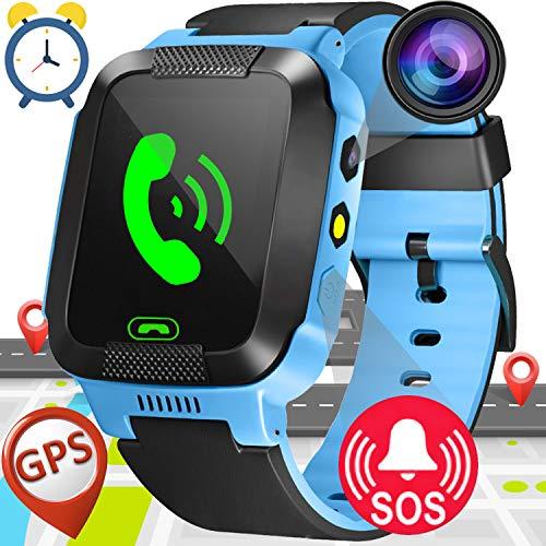 Smartwatch Niños,GPS Tracker Smartwatch Inteligente Relojes para Niños Niñas con cámara de...