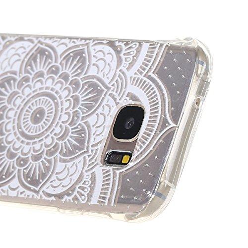 Voguecase® Per Apple iPhone 5 5G 5S, Custodia Silicone Morbido Flessibile TPU Custodia Case Cover Protettivo Skin Caso (Nero - unicorno) Con Stilo Penna Cavo - tappeto pizzo