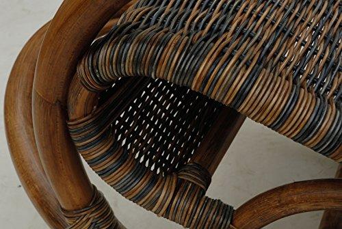 Stillstuhl LUXOR aus Rattan in der Farbe Zebrano - 7