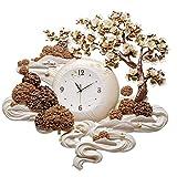 WSXX Décoration d'horloge Murale Fait Main en Relief à la Main, Horloge stéréo de...