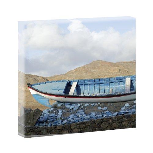 Kunstdruck auf Leinwand - Strandboot 40cm x 40cm