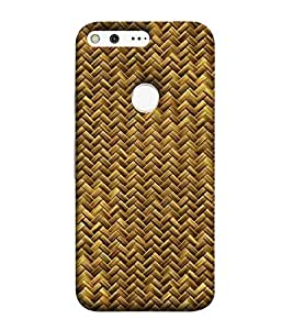 For Google Pixel XL abstract generated wickerpattern ( abstract generated wickerpattern, seamless baskett, pattern, woven basket texture ) Printed Designer Back Case Cover By CHAPLOOS
