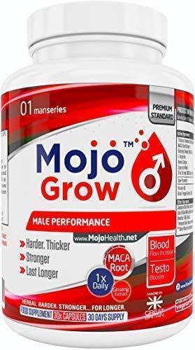 GROW - Erektion Ergänzungsmittel für Männer Libido steigern Sperma Booster 1x Tag Manneskraft Virilitäts Steigerung Natürliche Kräuter Formel für Ausdauer Durchhaltevermögen Aphrodisiakum