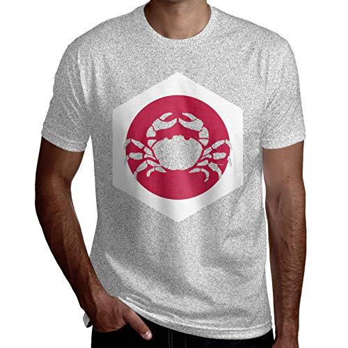 Mens Japan Cancer Fashion Kurzarm Lustige T-Shirts Coole T-Shirts Lässig Gedruckt Sommer Neuheit(3XL,Grau) (Star Original-outfits Trek)