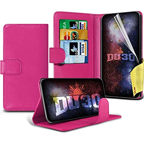 Microsoft Lumia 950 XL Wallet Case - Hot Pink BookStyle