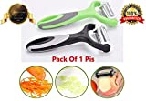 #7: Bagonia 3-In-1 Rotational Vegetable Peeler, Julienne Slicer And Shredder,(Pack Of 1)