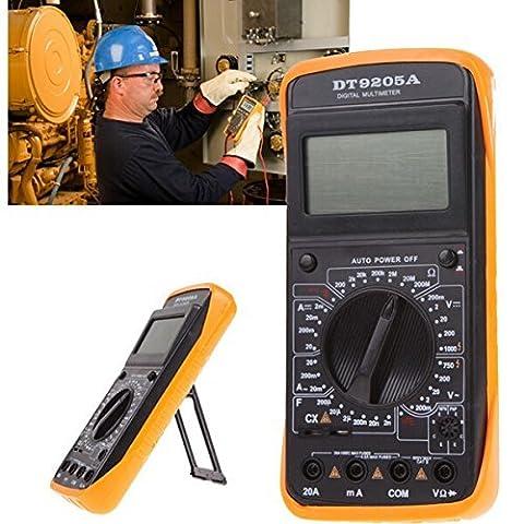 Generic Dt-9205a Handheld écran LCD Digital Multimeters DMM avec AC/DC résistance Ampvolt Capacitance Test