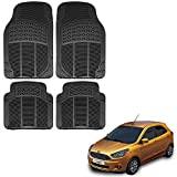#10: Vheelocityin Ford Figo New Car Mat Black / Black rubber Foot Mat For Ford Figo New