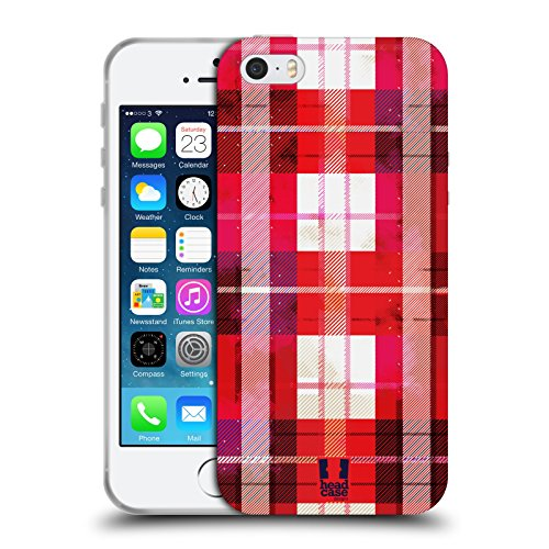Head Case Designs Panda Animali Floreali Cover Morbida In Gel Per Apple iPhone 7 Plus / 8 Plus Rosso Sbiadito