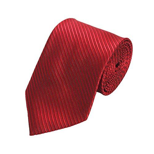Chillify Krawatte Herren für Arbeit, Hochzeit, Business - fein gestreift, dunkelrot