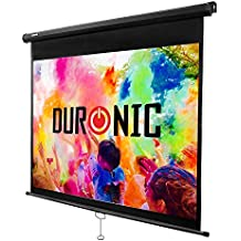 Duronic (Renewed) MPS70 Manual Pull Down HD Projection Screen for | School | Theatre | Cinema | Home Projector Screen - 70in (Screen: 107.5cm(w) X 142.5cm(h)) - Matte White Screen