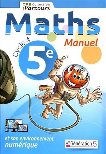 Manuel iParcours maths cycle 4 - 5e