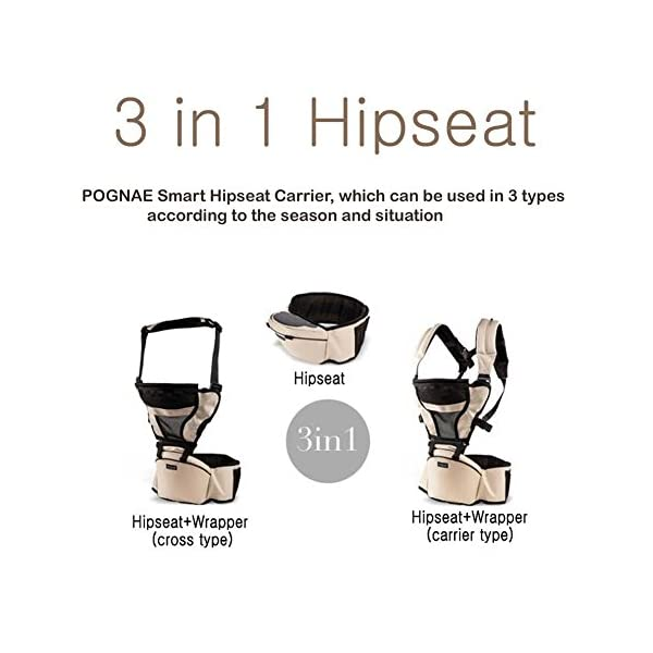 Pognae Smart Hipseat 3-in-1 Carrier (Red) Pognae 3 in 1 hipseat carrier hipseat cross type hipseat 4