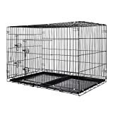 Zelsius Transportkäfig | Hundebox | Hundekäfig | Drahtkäfig für Hund Katze klein bis groß | S - XXL | mit 2 Türen | faltbar (XXL - 121 x 76 x 82 cm)