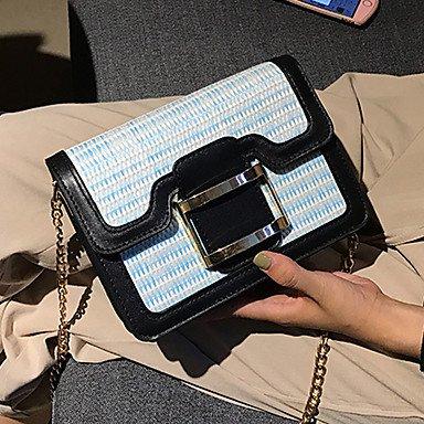 SUNNY KEY-Borsa a tracolla @ Donna Borsa a tracolla PU (Poliuretano) Per tutte le stagioni Casual Cerniera Con fermaglio Blu Bianco Nero Marrone Arcobaleno , blue rainbow