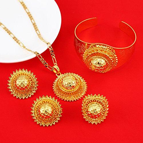 Ethiopian Set Jewelry Gold Plated Habesha Sets Wedding Bridal