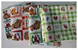 21pcs 10x10inch, cartoon printed children cotton handkerchiefs, cotton handkerchiefs