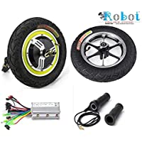 "10"" 24V 350W Rear Wheel bldc hub Motor + Front Wheel+ Controller+Throttle+ Break kit with Tube tyre ROBOTONLINESTORE."