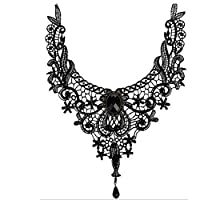 ❤?��❤?��❤?��DUUMY 2017 new exaggerated ladies lace necklace creative big collar necklace black , black