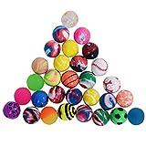 Onepine 30PCS Bouncy Balls Assorted Rubber Balls,Party Bag Filler,High Bouncing Balls for Kids