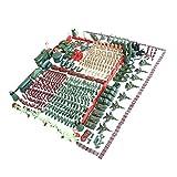 MagiDeal 488 / 520 Stück Armee Soldaten Figuren Spielset Satz - 5cm Soldaten Figuren, Armee-Büro, Tank, Panzer, Hubschrauber, Kampfflugzeuge und anderes Zubehör - 488 Stück