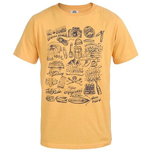 Urban Beach Luca Crew Neck, T-Shirt Uomo Yellow