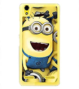 Funny Characters 2D Hard Polycarbonate Designer Back Case Cover for Lenovo A6000 :: Lenovo A6000 Plus :: Lenovo A6000+