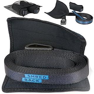 SHRED RACK ShredRack® Spanngurt schwarz Premium Zurrgurt mit Klemmschloss - 2er Set Befestigungsriemen Fahrrad (3m Länge, 250 daN)