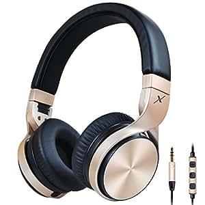 Riwbox IN5pieghevole cuffie con microfono e controllo Volume cuffie stereo pieghevole forte bassi per iPhone, iPad, smartphone, laptop, MP3/4