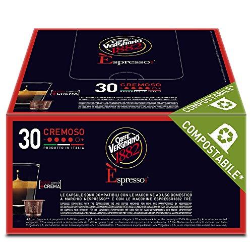 Caffè Vergnano 1882 Èspresso Capsule Caffè Compatibili Nespresso, Cremoso - 8 confezioni da 30 capsule (totale 240)