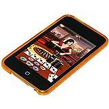Amzer - Cover posteriore in gel con motivo a rombi per iPod Touch 2G / 3G, colore: Arancione