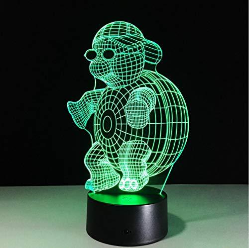 Tortue 3D Night Light Sea Turtles Led 7 Couleurs Bébé Nuit Veilleuse Lampe Usb Lampe De Table Pour Enfants Cadeau