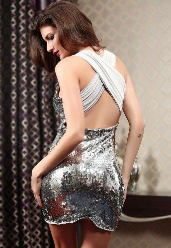 Dissa® femme Argent SY2791 robe de cocktail Argent