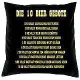 Kissen komplett mit Füllung, Dekokissen, Couchkissen, Deko - Die 10 Bier Gebote...