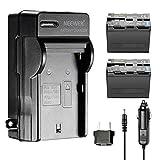 Neewer 6600mAh Li-ION Batterie Rechange pour Sony NP-F970 et Chargeur Secteur et de...