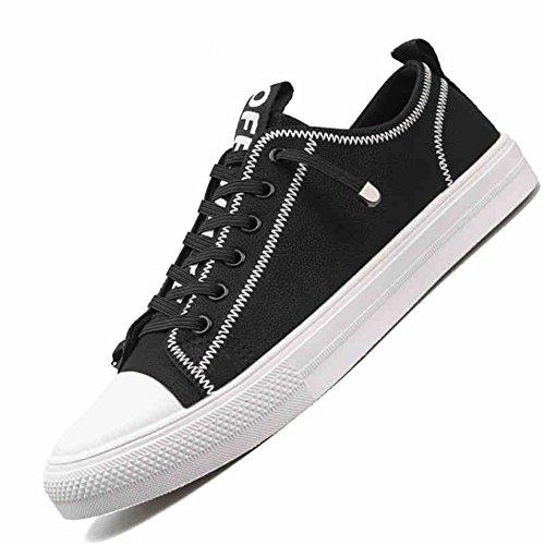 YIXINY Chaussures de sport PA019 Chaussures De Plaque Étudiant Jeunesse Chaussures Décontractées Chaussures De Planche À Roulettes 2 Couleurs ( Couleur : 1 , taille : EU42/UK8.5/CN43 )