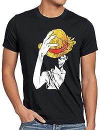 style3 Ruffy Chapeau de Paille T-Shirt Homme