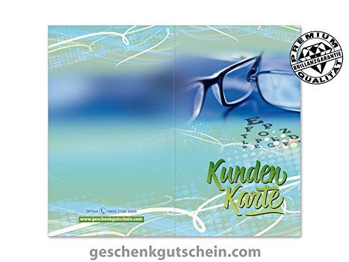 500 Stk. Kundenkarten für Optiker, Brillengeschäfter, Brillenhändler OP564