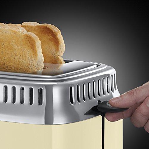 Russell Hobbs 21682-56 Retro Vintage Cream Toaster mit stylischer Countdown-Anzeige - 5