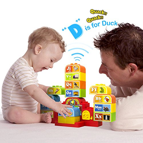WEoffer whatYOUwant Talking ABC Blocks. Self Learning Audio while Playing with Plastic Blocks