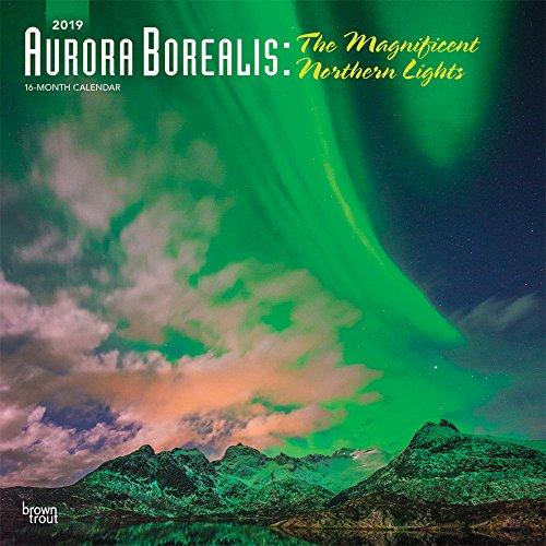 Aurora Borealis: The Magnificent Northern Lights - Nordlicht 2019 - 18-Monatskalender: Original BrownTrout-Kalender [Mehrsprachig] [Kalender] por Inc Browntrout Publishers