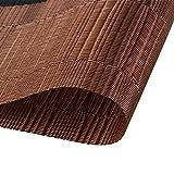 TOP Marques Collectibles Top Finel 4er Set Umweltfreundlich PVC Tischset - abwaschbar Platzset Platzmatten für Dekoration und Küche, 30 x 45 cm,Braun und Schwarz - 2
