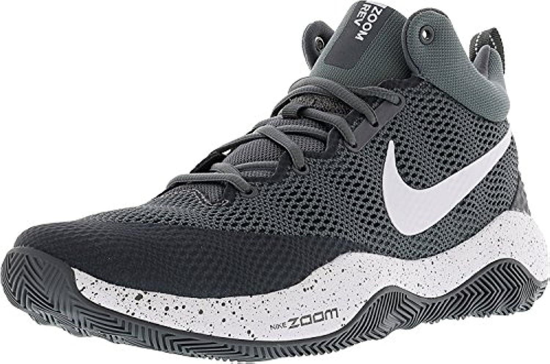 Nike Men's Zoom Rev Ankle-High Basketball Shoe, Cool Grey/Dark Grey/White, 45.5 D(M) EU/10.5 D(M) UK