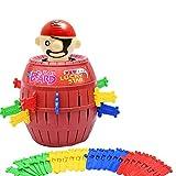 mxdmai Pirate Spiel Aktionsspiel Kinder und Familie Spielzeug Lustige Piraten Eimer Glück Stab Geschicklichkeit Spielzeug Party-Spiel zufällige Farbe (L)